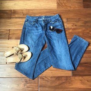 Ann Taylor Loft Curvy Straight Medium Wash Jeans